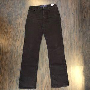 NYDJ Jeans Size 10 Brown Straight Leg 31x33